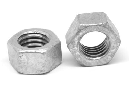 3/8-16 Coarse Thread Grade 5 Finished Hex Nut Medium Carbon Steel Hot Dip Galvanized