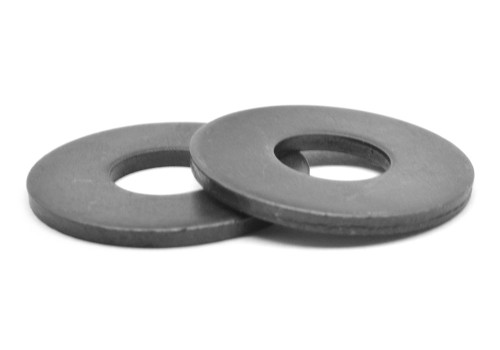 #10 Flat Washer SAE Pattern Low Carbon Steel Black Zinc Plated