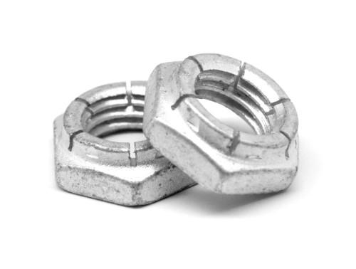 7/16-14 Coarse Thread Flexloc-Alternative Nut Thin Height Heavy Hex Medium Carbon Steel Cadmium Plated/Wax