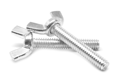 #10-24 x 3/8 Coarse Thread Forged Wing Screw Low Carbon Steel Zinc Plated
