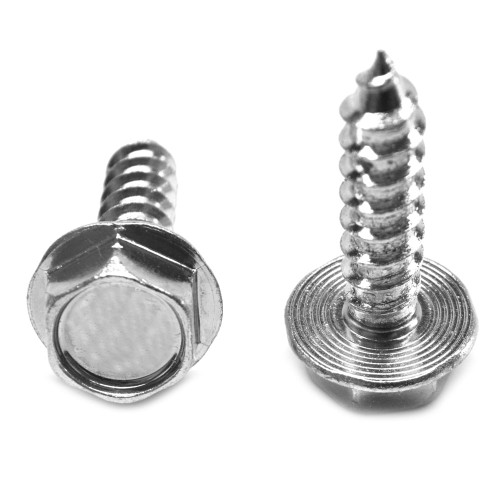 """5/16-9 x 1 5/8 Hex Washer 7/16"""" AF Head Lag Screw Low Carbon Steel Zinc Plated"""