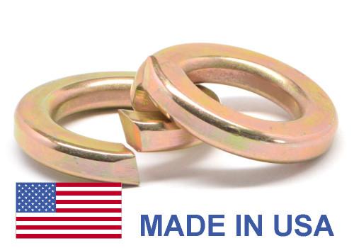 #8 MS51848 Hi-Collar Split Lockwasher - USA Alloy Steel Yellow Zinc Plated