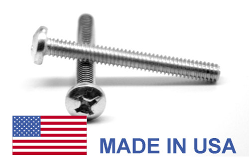 #2-56 x 1/8 Coarse Thread MS51957 NAS-1635 Machine Screw Phillips Pan Head - USA Stainless Steel 18-8