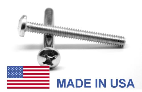 #0-80 x 1/2 Fine Thread MS51958 NAS-1635 Machine Screw Phillips Pan Head - USA Stainless Steel 18-8