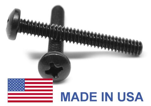 #0-80 x 1/4 Fine Thread MS51958-B Machine Screw Phillips Pan Head - USA Stainless Steel 18-8 Black Oxide