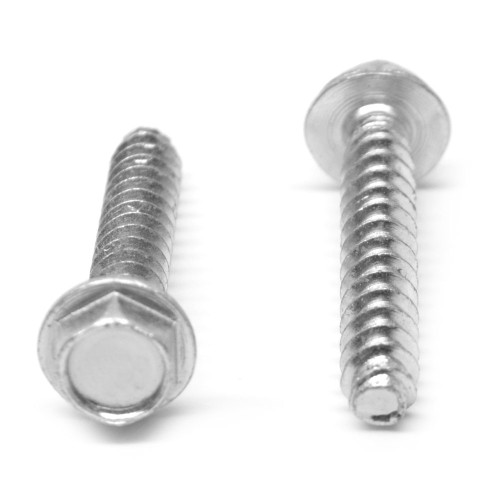 #10-14 x 1 Plastite®-Alternative Thread Rolling Screw Hex Washer Head Low Carbon Steel Zinc Plated/Wax