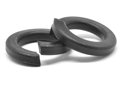 1 Regular Split Lockwasher Medium Carbon Steel Black Zinc Plated