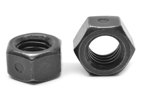 #8-32 Coarse Thread Reversible 2-Way All Metal Locknut Low Carbon Steel Black Zinc Plated/Wax