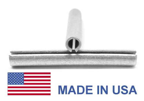 7/16 x 2 1/2 Roll Pin / Spring Pin - USA Medium Carbon Steel Mechanical Zinc