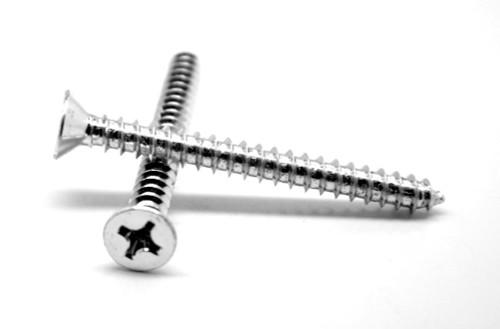 #10-16 x 3/4 Sheet Metal Screw Phillips Flat Head Undercut Type AB Stainless Steel 18-8