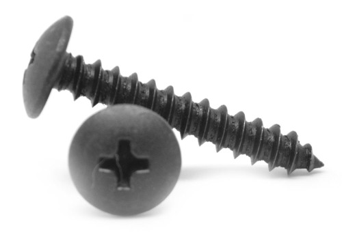 #10-12 x 3/4 Sheet Metal Screw Phillips Truss Head Type A Low Carbon Steel Black Zinc Plated