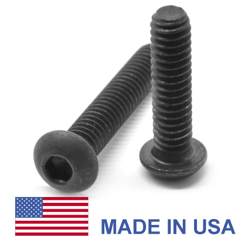 #10-24 x 1 1/2 Coarse Thread Socket Button Head Cap Screw - USA Alloy Steel Thermal Black Oxide