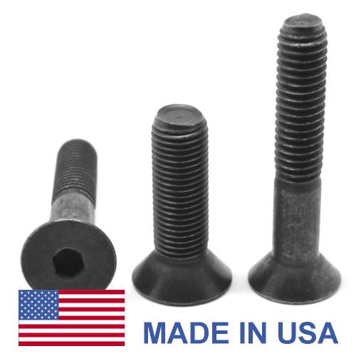 #10-24 x 1 1/2 Coarse Thread Socket Flat Head Cap Screw - USA Alloy Steel Thermal Black Oxide