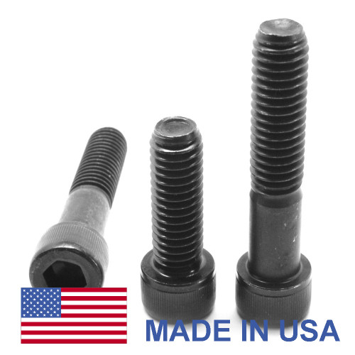3/8-24 x 1 1/2 Fine Thread Socket Head Cap Screw - USA Alloy Steel Black Oxide
