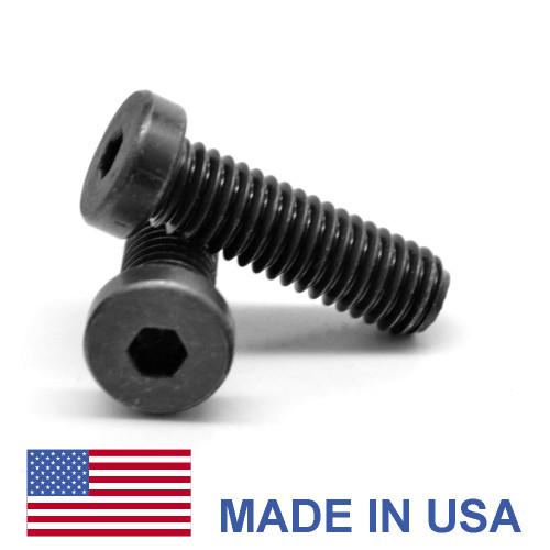 #10-32 x 3/8 Fine Thread Socket Low Head Cap Screw - USA Alloy Steel Thermal Black Oxide