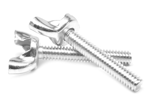 #10-24 x 3/4 Coarse Thread Stamped Wing Screw Low Carbon Steel Zinc Plated