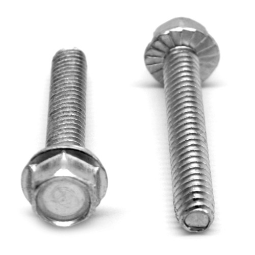#10-32 x 1 Fine Thread Taptite®-Alternative Thread Rolling Screw Hex Washer Head with Serration Low Carbon Steel Zinc Plated/Wax