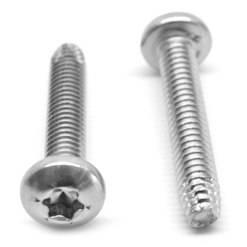 #8-32 x 3/8 Coarse Thread Thread Cutting Screw 6 Lobe Pan Head Type F Stainless Steel 18-8