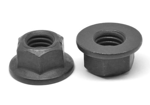 3/8-24 Fine Thread Grade G Stover All Metal Flange Locknut Medium Carbon Steel Black Phosphate