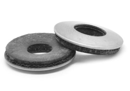 #8 x 3/8 Bonded Neoprene Sealing Washer Low Carbon Steel Zinc Plated