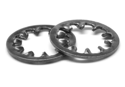 M8 DIN 6797J Internal Tooth Lockwasher Medium Carbon Steel Black Oxide