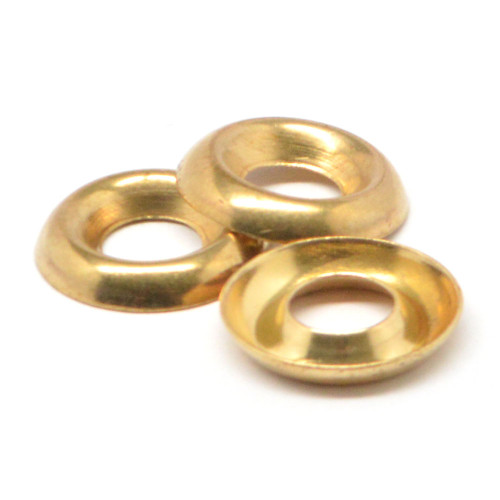 1/4 Cup Washer / Countersunk Finishing Washer Brass