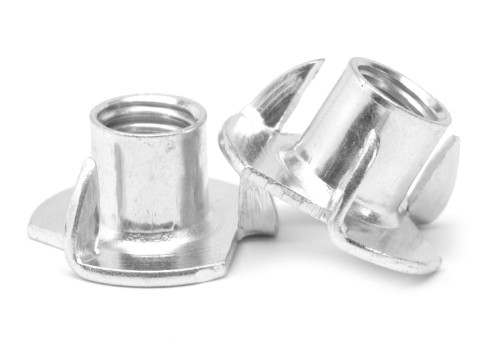 "1/4""-20 x 1/4"" Coarse Thread Tee Nut 3 Prong Low Carbon Steel Zinc Plated"