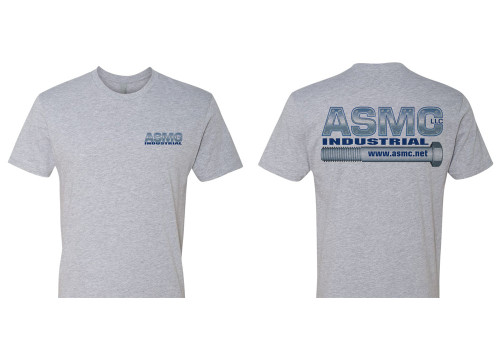 ASMC Logo Tee Heather Gray Size XXL