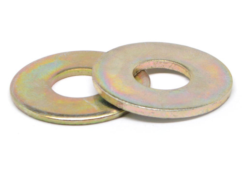 M5 DIN 125A Flat Washer Low Carbon Steel Yellow Zinc Plated