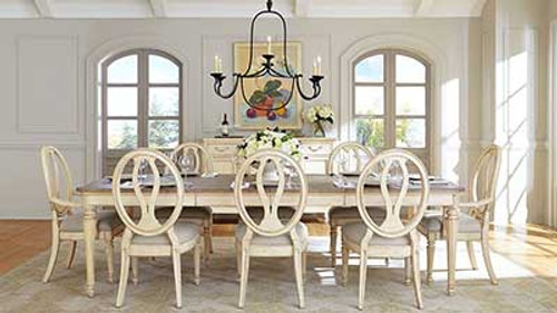 European Cottage Collection Dining Room Table with Chairs