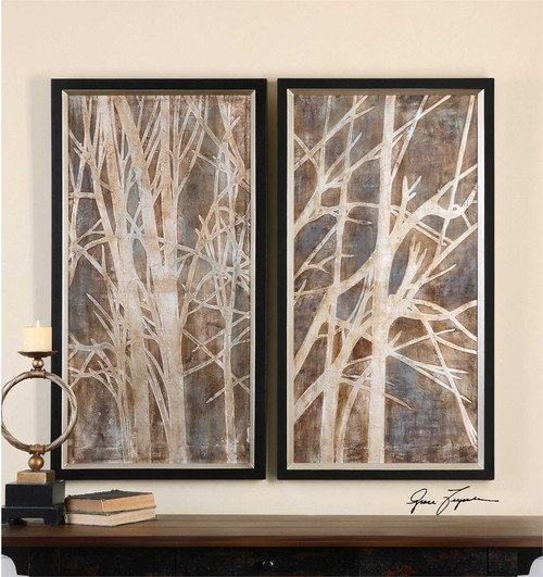 set of 2 twig pictures