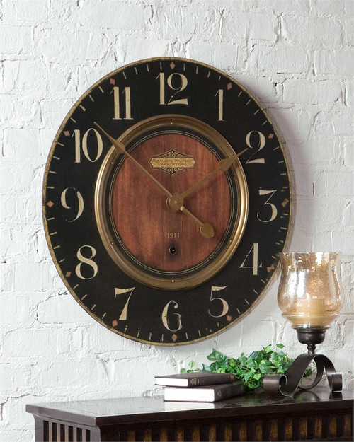 "Uttermost's Alexandre Martinot 30"" Clock at Marty Rae's of Orangeburg"