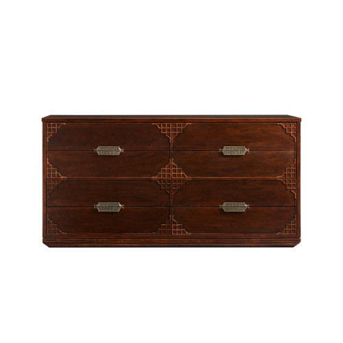 Stanley Furniture's Havana Crossing Copa Colonial Dresser in Mahogany.