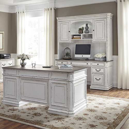 Liberty Furnitureu0027s Magnolia Manor Complete 5 Piece Home Office Collection