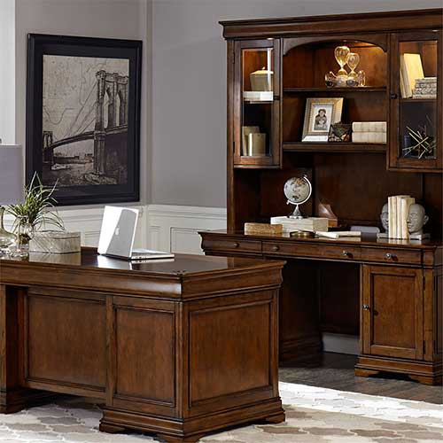 Liberty Furniture's Chateau Valley 5 Piece Jr Executive Set at Marty Rae's of Orangeburg
