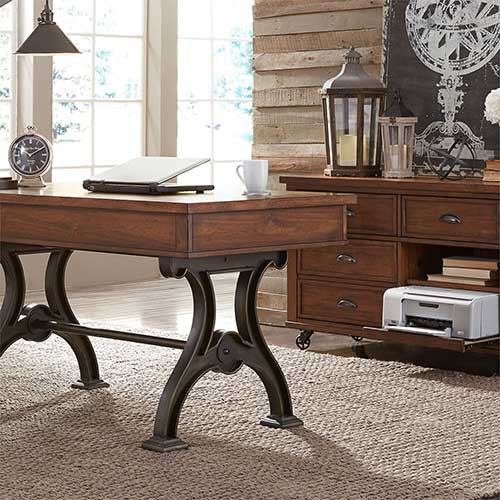 Liberty Furniture's Arlington House 2 Piece Desk Set 411-HO-CDS at Marty Rae's of Orangeburg