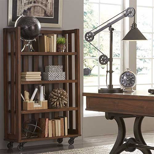 Liberty Furniture's Open Bookcase ~ Group Pic