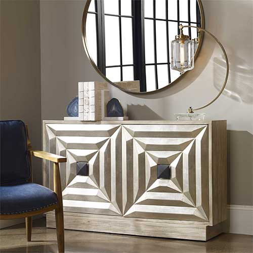 Uttermost's Raoul Console Cabinet - Gr Pic