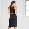 Sleeveless 2 Piece Sets Black Outfit Crop Top And Skirt Women
