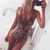 Deep V Lace Up Leopard Bodysuit - palaceofchic