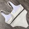 2018 New White Bikini Sexy Swimwear Women Bathing Suit Solid Bikini V Neck Swimwear Maillot De Bain Femme Monokini