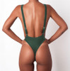 Thong Swimwear One Piece Swimsuit Solid Bathing Suit Women Sexy Piece Swimsuit Halter Monokini Beach Wear