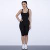Stretch-Knit Cami Romper Sexy Sleeveless Bodysuit Women Summer Jumpsuit Shorts Romper Slim Bodycon Skinny Playsuit Ladies Strap Cami Bodysuits