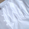 Puff Sleeve Crop Top Shirts Women Lace Up Tunic Blouse Female Long Sleeve Blouse Vintege Square Collar Short Chemise Sexy