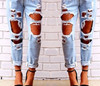 Destroyed Distressed Ripped Jeans Denim