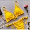 mini micro swimsuit womens beach wear string thong feminino sexy volleyball set ladies swimwear ladies red bikini swimwear 2019 {Yellow}