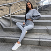 Women Two Piece Set Sweater And Trousers Tracksuits Autumn And Winter Knit 2 Pieces Knitted Suit Clothes Tracksuit