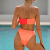 High waist sexy bikini 2019 new Bandeau female swimsuit strapless bathing suit Push up high cut swimwear women Summer beach wear