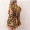 Cold Shoulder Chiffon Women Playsuits Rompers Leopard Print Summer 2019 Romper Ruffles Female Playsuit
