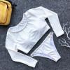 swimsuit sports top indoor swimming suit beachwear long sleeve bathing suit ladies swimsuit low waist swimwear white bikini set